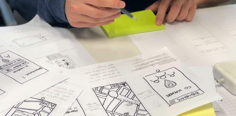 Design Sprint - Arbeit mit Skizzen und Postits